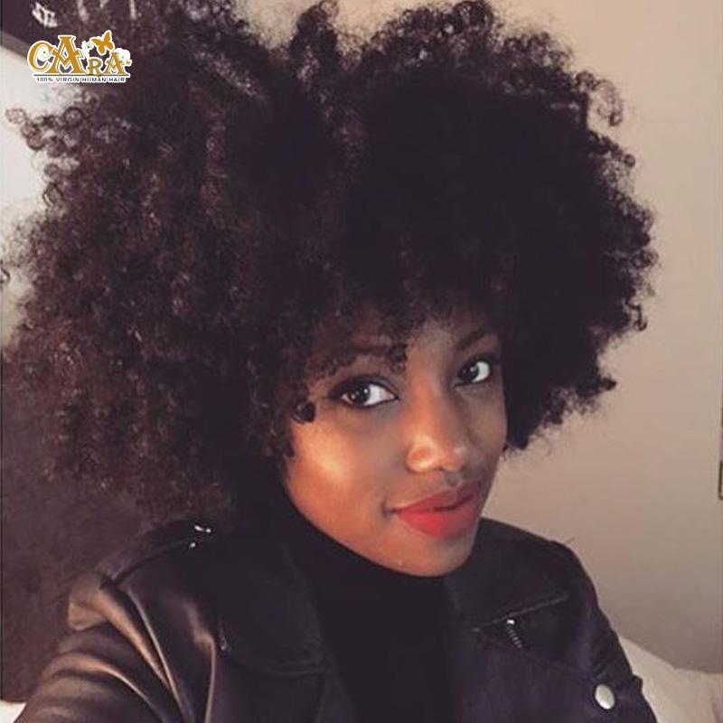 "6A U Part Wig Lace Front Human Hair Wigs Black Women 8-24"" Brazilian Virgin Hair Wigs Afro Kinky Curly U Part Wigs Virgin Hair(China (Mainland))"