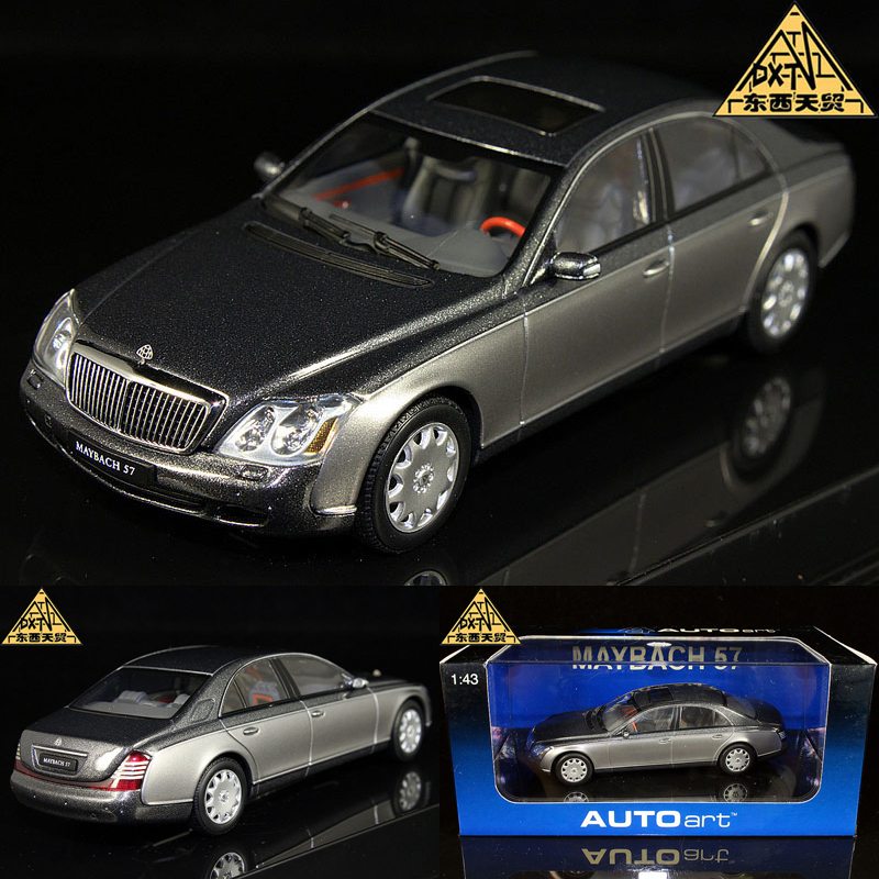 AUTOart 1:43 MAYBACH 57 SWB Alto Maybach 57 silver alloy model cars(China (Mainland))