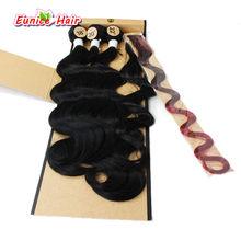 Радужная объемная волна, синтетический плетение, объемная волна, два тона, три тона, Бразильский Натуральный волнистый волос, ткацкие дешев...(China)