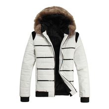 Winter Jacket Men Outdoor Coat Cotton-Padded Down Jacket Overcoat Outwear Parkas