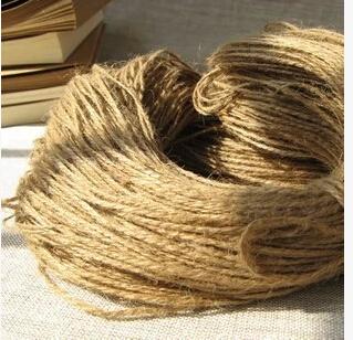 Natural Hemp Rope 1mm x30m Jute pet tie for gift packing, Jute rope, hang tag rope, DIY jute cord(China (Mainland))