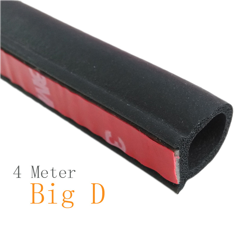 4 meter Big D Rubber Seals Car Door Seal Noise Sound Insulation Noise Waterproof Car Door Seal Rubber(China (Mainland))