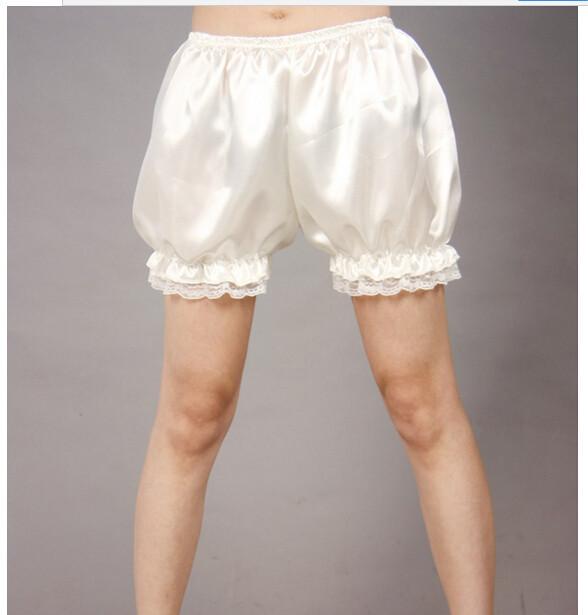lace basic bloomers female 2015 Fashion Casual Lace Wavy edge satin Women Shorts 100pcs fedex(China (Mainland))