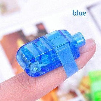 Free shipping 40 pieces/lot plastic LED Finger Light Party Flash Toys blue white red and green