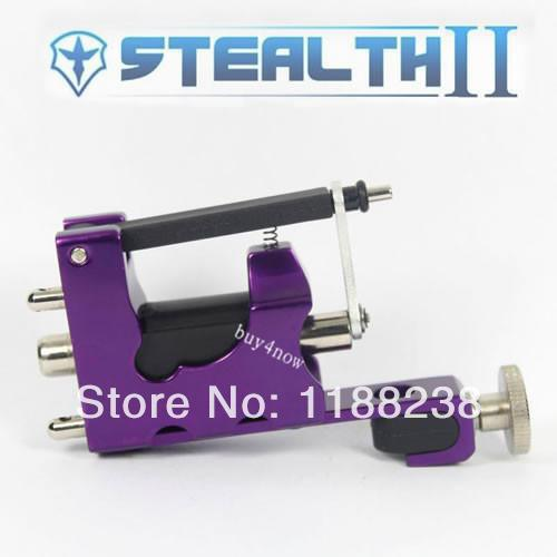 STEALTH ROTARY Aluminum Rotary Tattoo Machine Strong Consistent Power for Shader & Liner Purple one(China (Mainland))