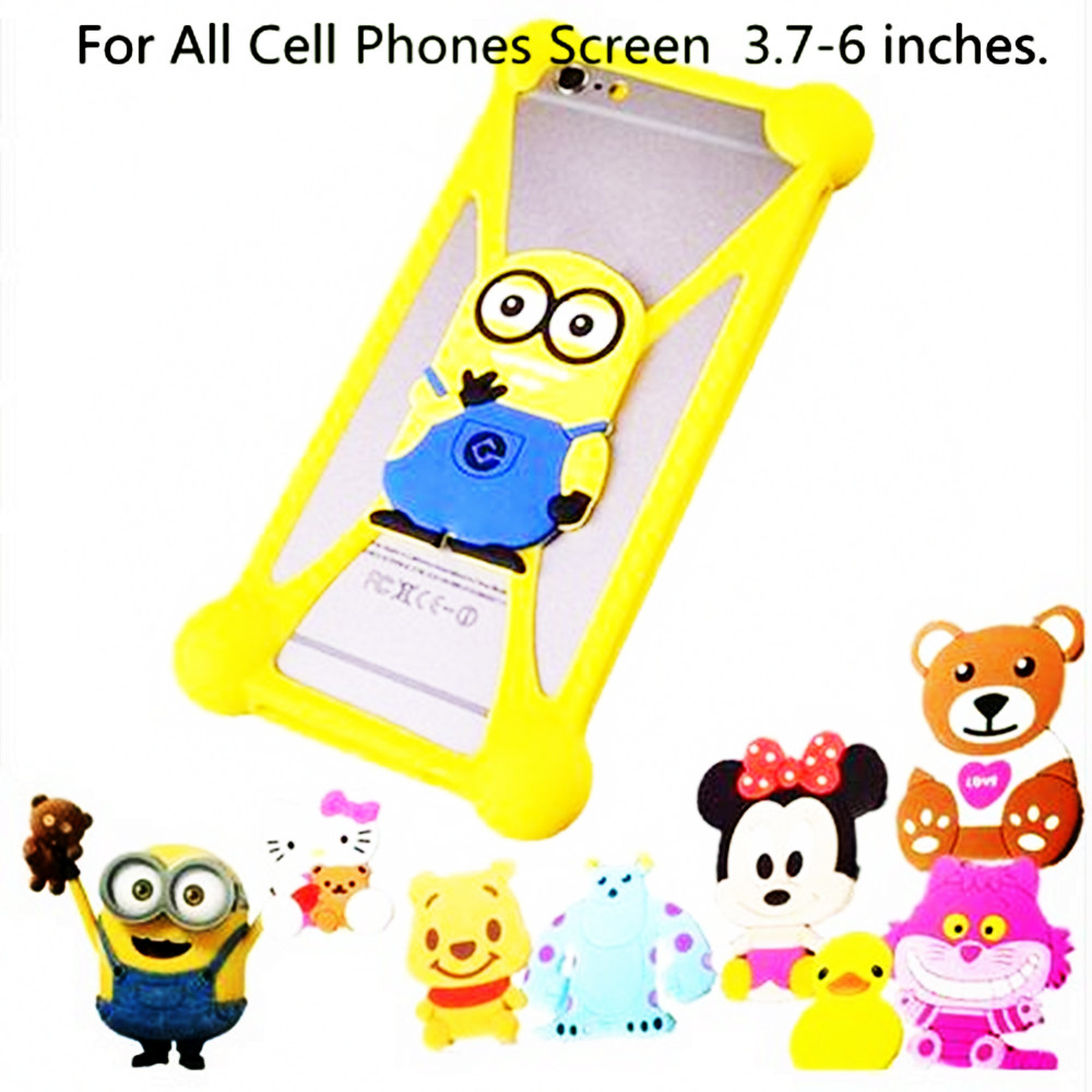 3D Cartoon Hello Kitty Stitch Minnie Minions Sully Silicone Case For BlackBerry Leap Soul Housing Covers Phone Cases(China (Mainland))