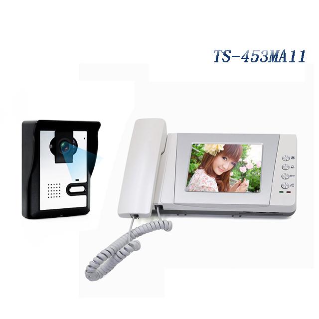 Фотография 2016 Newest  4 inch wired video door intercom electric unlock door phone doorbell with taking pictures storage function