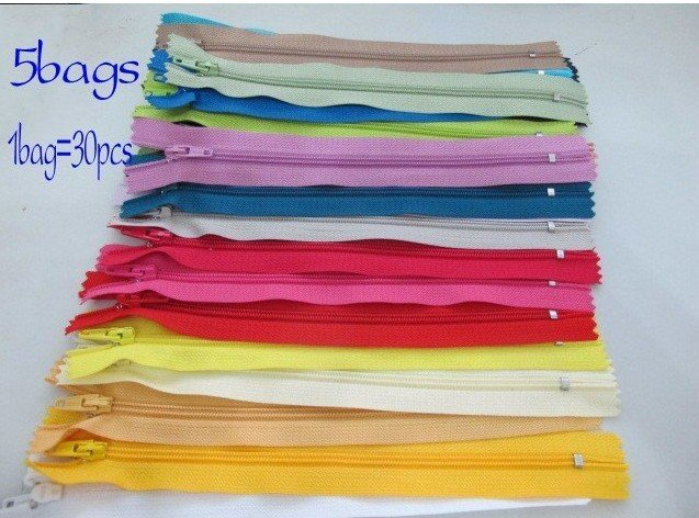 """Free Shipping 5bags New Color Nylon Coil Zippers Tailor Sewer Craft 7"""" 1bag=30pcs"""