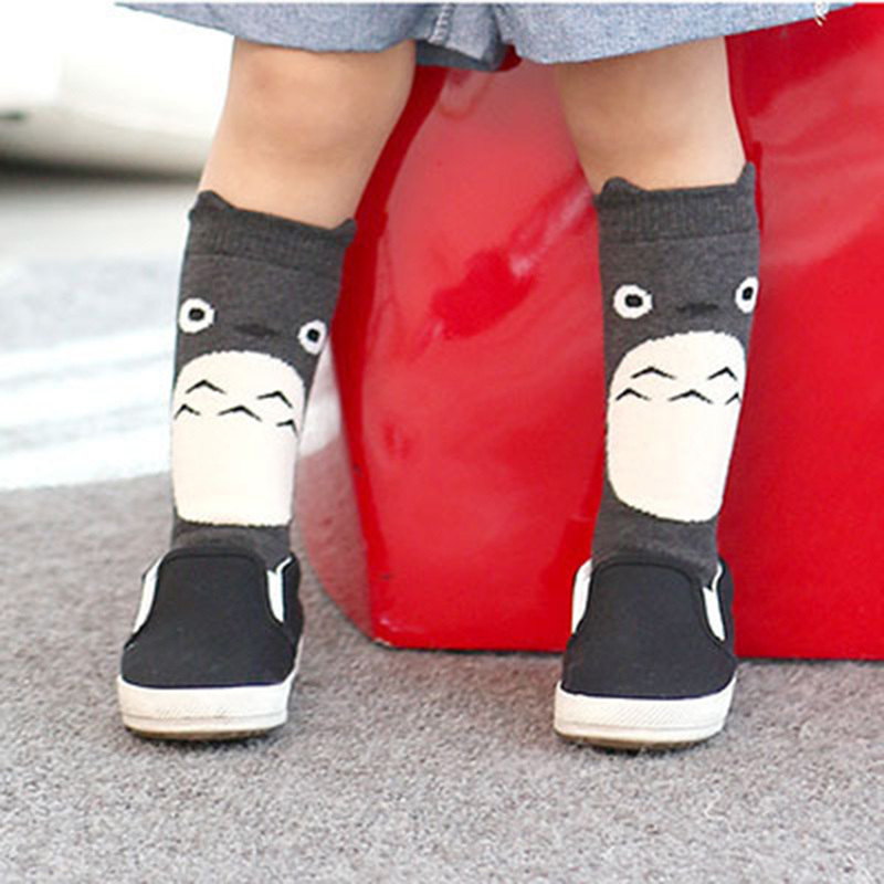 4 Styles Baby Leg Warmers Cartoon Totoro Owl Baby Tights Leggings Cotton Knee Socks For Kids