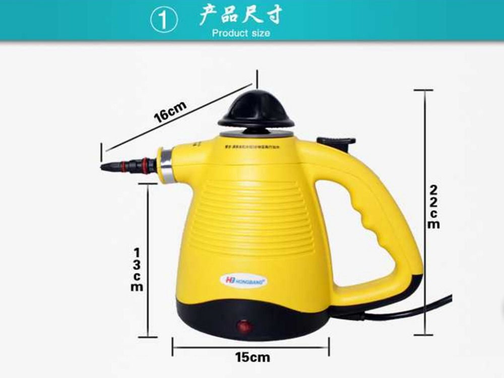 Free shipping! handheld steam cleaner pressure cportable clean machine Kitchen Cabinets clothes with brush iron generator(China (Mainland))