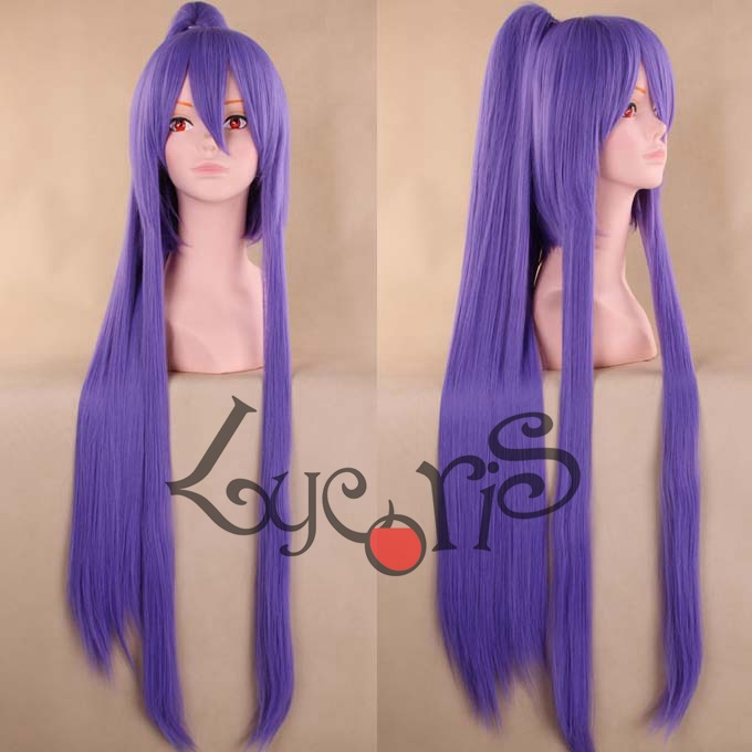 Judith High Quality Straight Long Purple Full Lace Cosplay Wigs Anime Tales of Vesperia Judith Natural Hair Wig Free Shipping<br><br>Aliexpress
