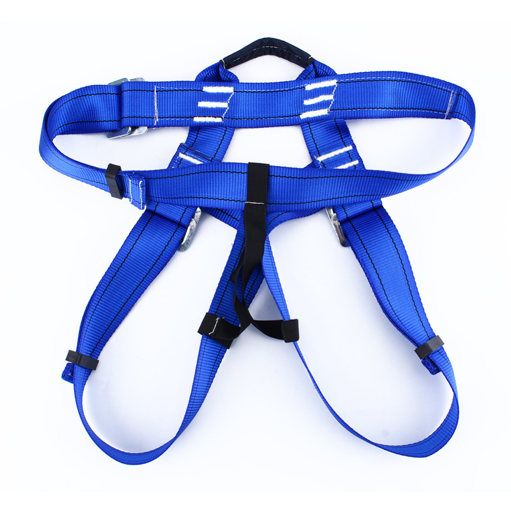 Hot Blue Rappelling Rock Outdoor Climbing Safety Rope Guard Belt Equipment Harness Gear Climbing Belts