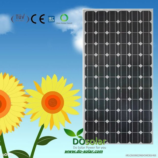 DHL Free Shipping--Chinese factory supply 24V 190W mono solar panels in  stock