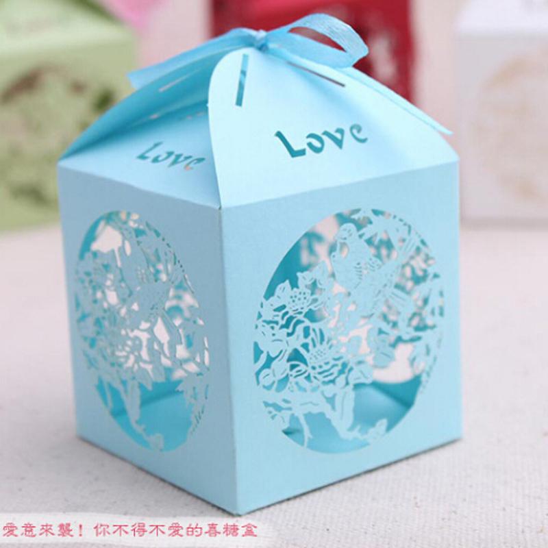 (50 peças/lote) Venda Quente da Forma da Casa Pequena caixa de Doces Caixa de Papel Para Decorações Do Casamento(China (Mainland))