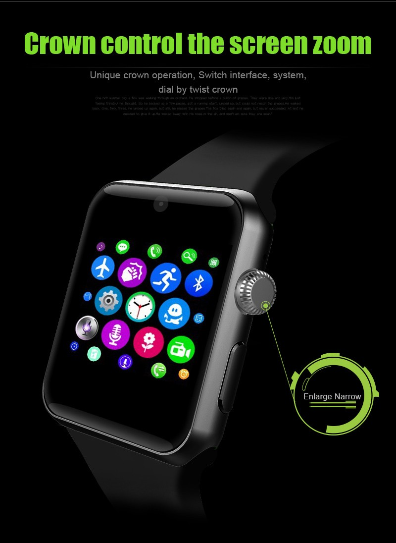 ถูก 2016บนข้อมือขายlf07 smart watchนาฬิกาซิงค์แจ้งเตือนที่มีซิมการ์ดกีฬาสุขภาพsmartwatchสำหรับappleสำหรับiphone huaweiโทรศัพท์