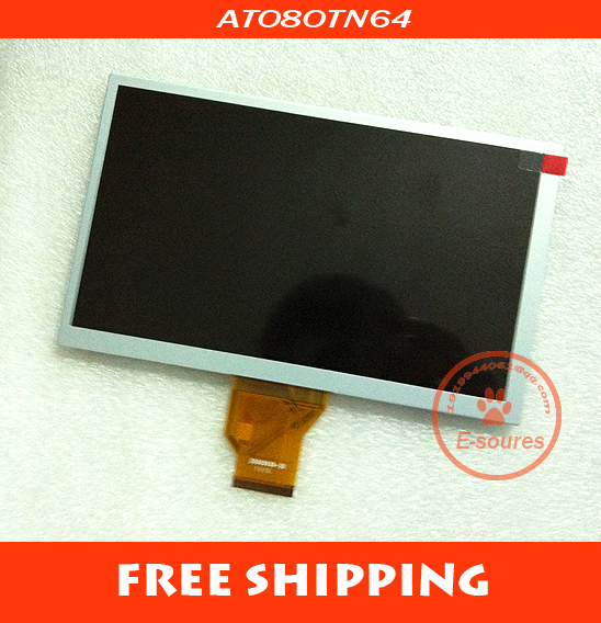 FREE SHIPPING 8'' inch AT080TN64 16:9 LCD screen display panel for tablet PC MID CAR GPS(China (Mainland))