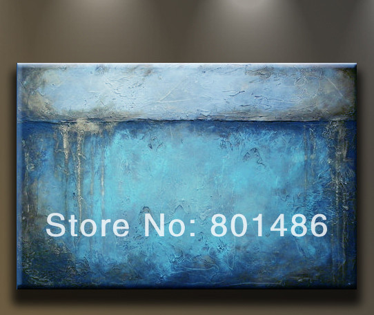 Free shipping! Handmade blue abstract oil painting modern art work home decoration on canvas(China (Mainland))