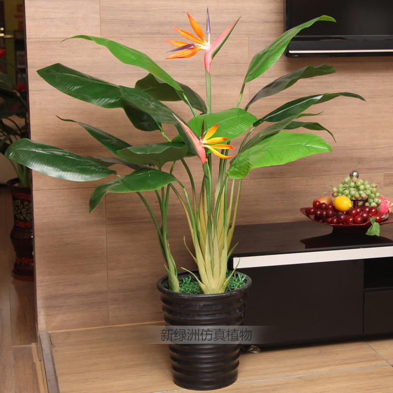 Artificial Plants Potted Plants Juanbu Mall Floor Living Room Decorative Display Fake Tree Three