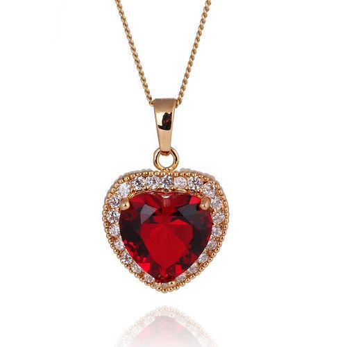 Fashion 1pc 18K Gold Plated Alloy Peach Heart Zircon Stone Charms 30*20mm Pendant 62851(China (Mainland))