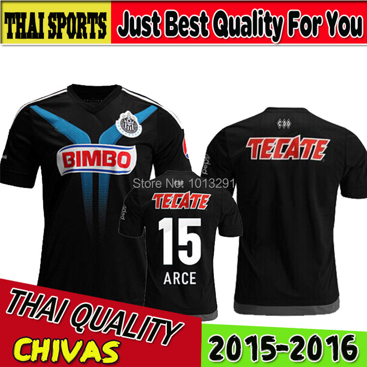 2015 Mexico's club Guadalajara Chivas soccer Jersey 15/16 new season thai 3A+ top quality soccer jerseys football shirts(China (Mainland))
