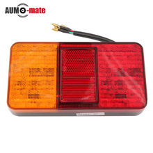 1 pair HOT 12V 40 LED Rear Tail Lights Stop Indicator Lamp for Truck Trailer Van Bus(China (Mainland))