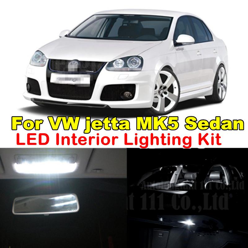 9X Canbus Pure White Error Free Dome Vanity Mirrors Light Volkswagen VW Jetta MK5 MKV LED Interior light Kit Sedan 2005-2010 - WLJH Carparts Store store