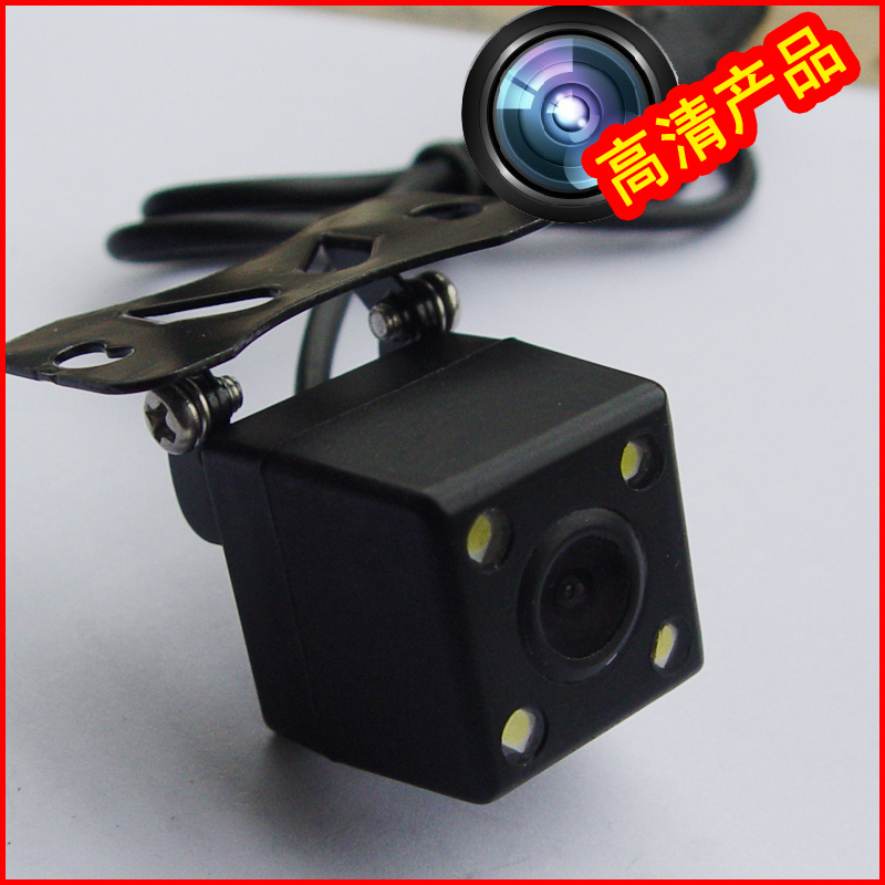 CCD HD car camera 170 high-strength ultra-wide angle 4 LED fill light with a ruler reversing lights(China (Mainland))