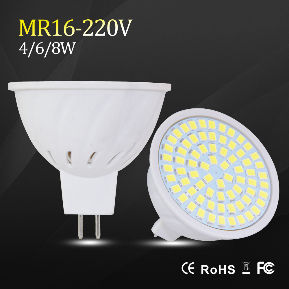 MR16 Led Bulb Led Spotlight Energy Saving 4W 6W 8W 220V High Power Led Light Bulbs MR16 GU5.3 Led Lamp Bombilla Led Spot Light(China (Mainland))