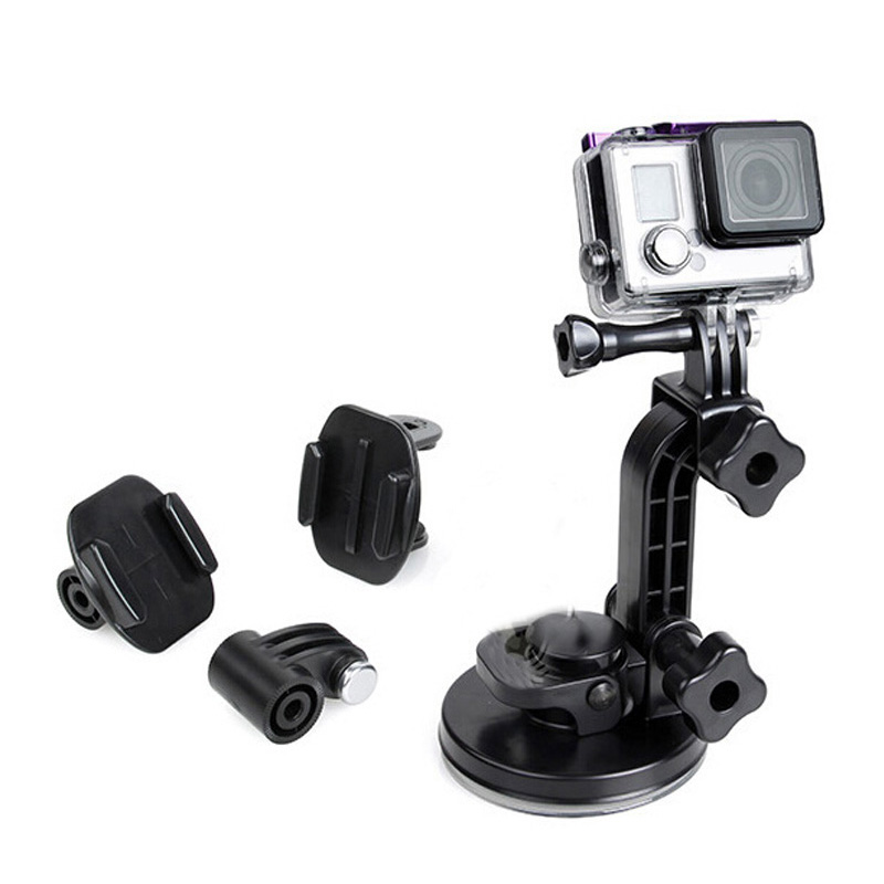 4 In 1 Suction Cup Mount Set Four Low-angle Car Sucker For Go Pro Camera Accessories HERO 3 +/4<br><br>Aliexpress