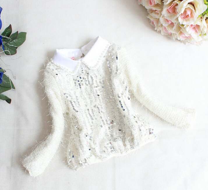 Baby Girls Fashion Hoodies Autumn Kids Princess Full Sleeve Clothes Solid Bling Children Turn-down Collar Clothing 4pcs/LOT<br><br>Aliexpress