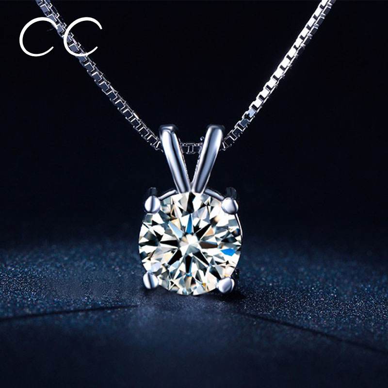 Vintage White Gold Plated Pendants Necklaces for Women Zirconia Simulated Diamond Necklace Fashion Jewelry Bijoux Femme CCN002(China (Mainland))