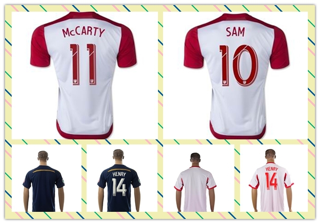 Top Sell Thailand #14 Henry 10# sam 99# Wright-Phillips 2015 White Home Soccer Jersey(China (Mainland))