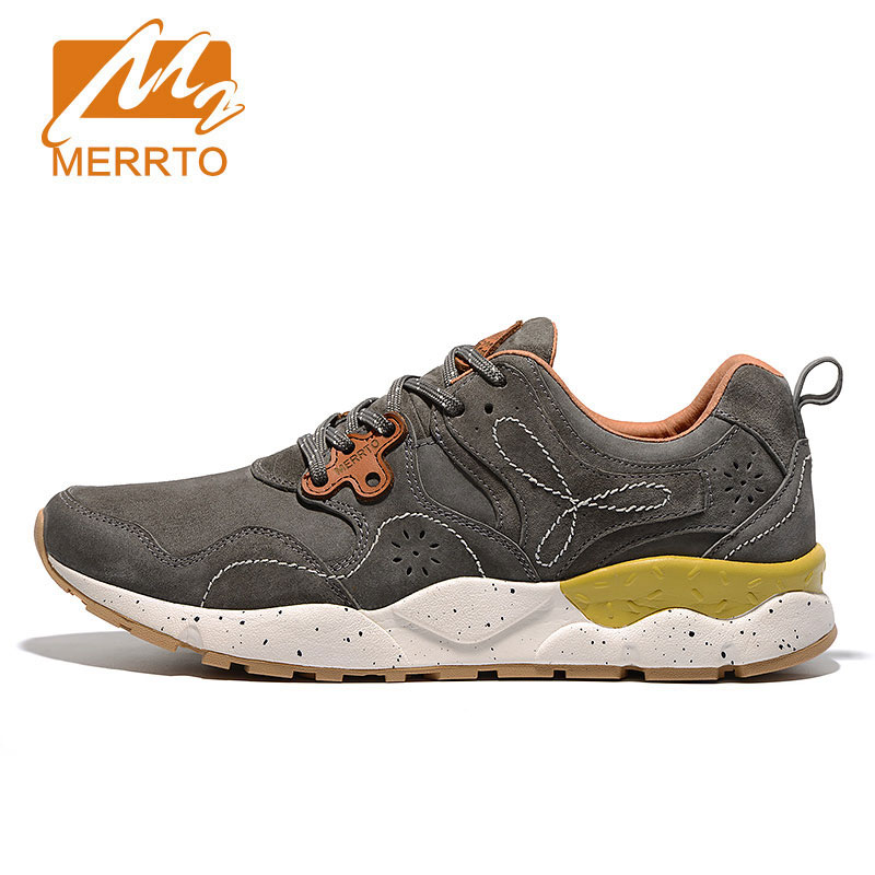2017 MERRTO Women Classic Running Shoes Retro Sneakers Breathable Genuine Leather Footwear Cushioning Waterproof Sports Shoes(China (Mainland))
