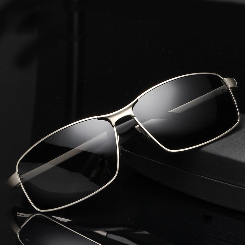 BZ8541 Brand Fashion Men Luxury Polarized Driving Sunglasses Alloy Frame Green Mirror Lens Non-Slip Rubber Legs(China (Mainland))