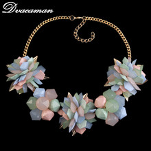 2015 New Lxuury Five color Crystal Vintage Choker necklaces and pendant Statement Necklace Women Jewelry High Quality Wholesale(China (Mainland))