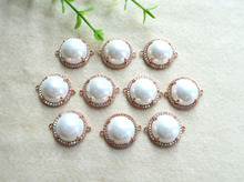 10pcs/lot Druzy Gold Plated Faceted white pearl Crystal Connector Beads For DIY Making Bracelet necklace Jewelry BD60(China (Mainland))