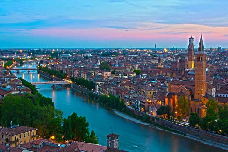 Best Selling 2015 Italy Borgo trento verona Water channel Wall Decals Art Poster Custom Home Decor(China (Mainland))