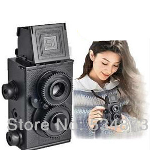 2015 Summer Style New Fashion New DIY Lomo Recesky TLR 35mm -Twin Lens Reflex Retro Camera Free Shipping(China (Mainland))