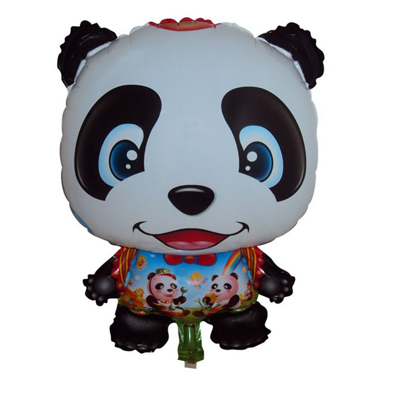 42x62cm animal shaped cheap mylar balloons panda party decorations supplies helium foil inflatable birthday panda balloon(China (Mainland))