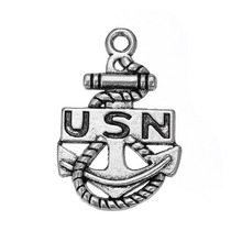 Buy shape 20pcs USN anchor nautical united states charm for $6.99 in AliExpress store
