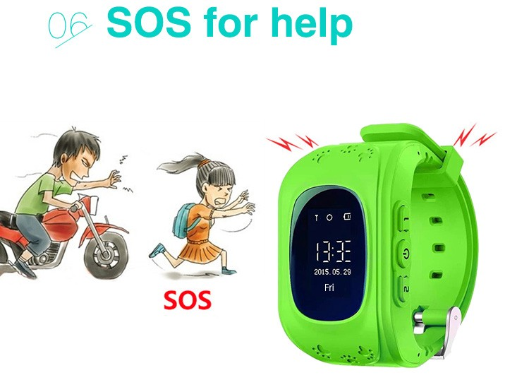 image for Smart Q50 GPS Kid Safe Smart Watch SOS Call Location Finder Locator Tr
