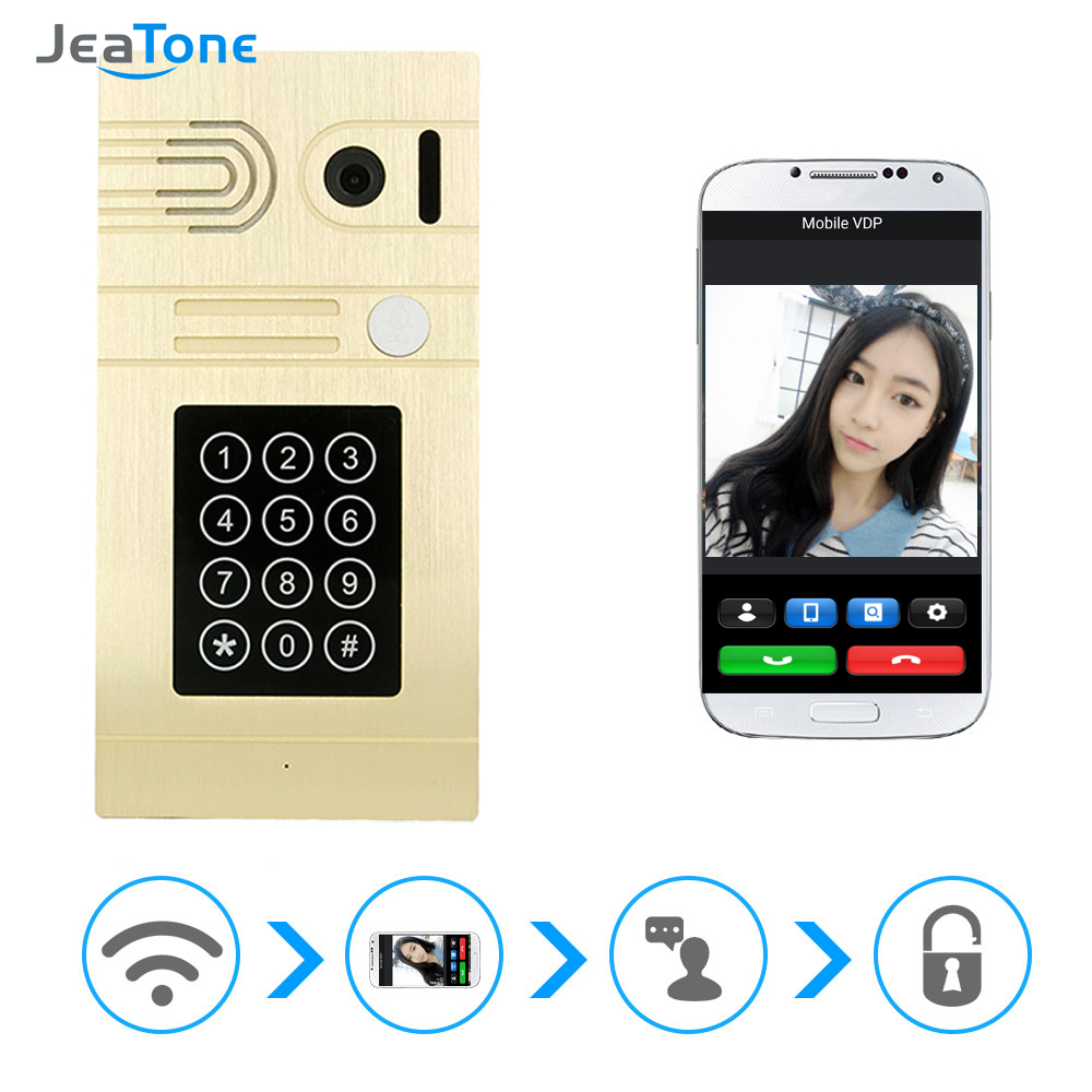 JeaTone Gold Passwords And Credit Card And Wifi Camera Door Bell Smarter Unlock Control Video By WIFI Home Intercom(China (Mainland))