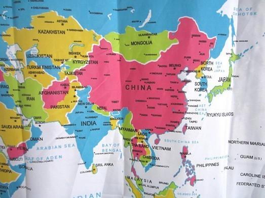 Moderne carte du monde polyester rideau de douche home eco - Rideau de douche en tissu impermeable ...