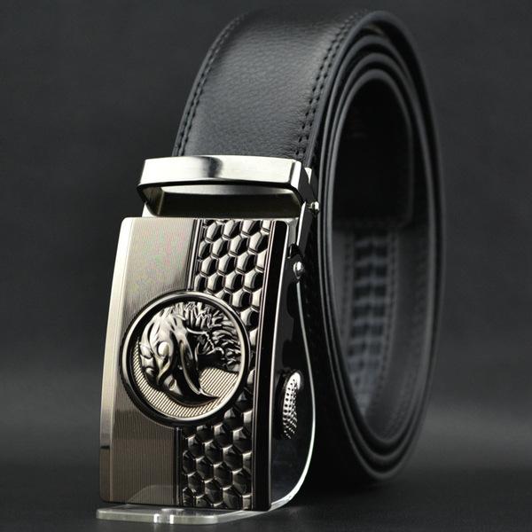2016 new hot fashion style real leather belt men automatic mens belts luxury brand fashion brand belts men high quality strap(China (Mainland))