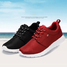 Size 36-44 Breathable Women Men Light Running Shoes For Couple Adults Lovers Sports Sneakers Outdoor Run Shoes Black Red NX4108(China (Mainland))
