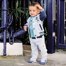 2015 Newest Spring Three-Piece Kids Clothes Set Children Clothing Suit Baby Boys Clothes Suit 1pcs/lot Free Shipping(China (Mainland))