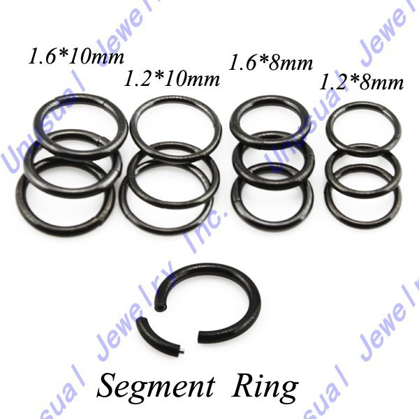 Unusual lot 12pcs lot segment ring nose stud ear cartilage for Types of body jewelry rings
