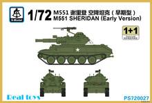 S-modelo 1/72 PS720027 M551 SHERIDAN modelo de plástico versión temprana
