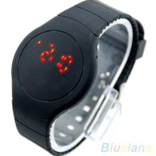 Mujeres hombres refrescan Unisex del deporte del tacto LED Digital del Dial redondo reloj de la pulsera 2828