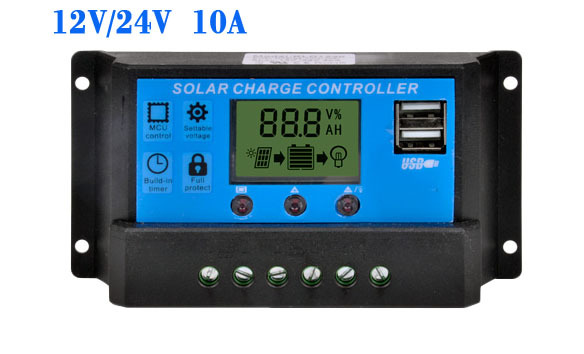New Usb Solar Charge Controller 10a With Dual Usb Output